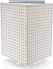 Azar 701414-ALM Pegboard 4-Sided Revolving Counter Display