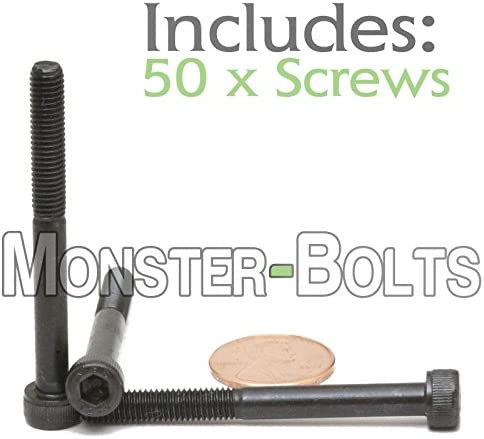 Brighton-Best International 532564 Socket Black-Oxide Socket Head Screw Pack of 100 Alloy Steel 100 mm Long M6 x 1 mm Thread Hex