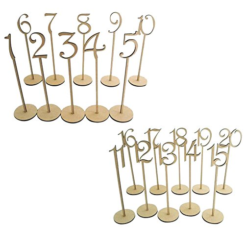 20PCS Number 1-20 Seat Card Wedding Banquet Number Place Holder Decoration Wedding Party Supplies by Aneil (Image #5)