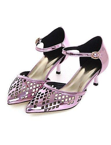 LFNLYX Zapatos de mujer-Tacón Cono-D'Orsay y Dos Piezas / Puntiagudos-Sandalias-Vestido / Casual / Fiesta y Noche-PU-Negro / Azul / Rosa / Rojo Red