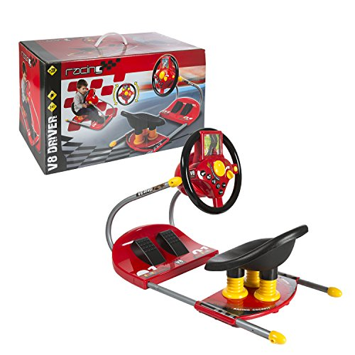 CP Toys Battery-operated Sit On Simulated Driver with Moving Screen and Lights & Sounds by Constructive Playthings