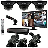 Revo R164D3GT5GM21-4TFC 16-Channel 4TB DVR Surveillance System with Eight 700TVL 100-Feet Night Vision Cameras, 21.5-Inch Monitor and Free Bonus Covert Camera (Black), Best Gadgets