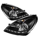 Spyder Auto PRO-YD-MBSLK05-HID-DRL-BK Mercedes Benz R171 SLK Black HID Type DRL LED Projector Headlight