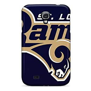 Scratch Resistant Cell-phone Hard Cover For Samsung Galaxy S4 With Support Your Personal Customized High Resolution St. Louis Rams Pattern RudyPugh