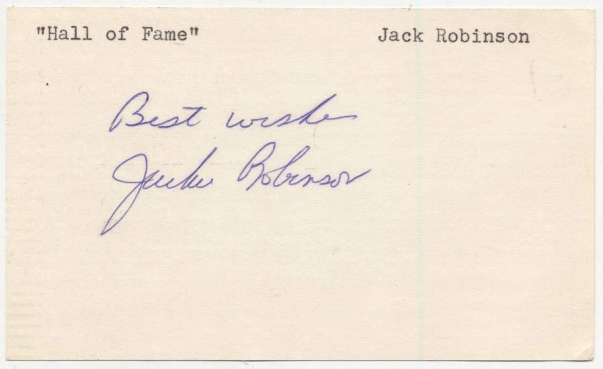 3 x 5 Robinson, Jackie 9.5 JSA LOA (FULL)