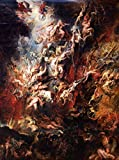 The Fall of the Damned - Masterpiece Classic - Artist: Peter Paul Rubens c. 1620 (12x18 Art Print, Wall Decor Travel Poster)