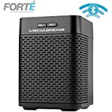 Portable Bluetooth Speaker with Powered Rear-Firing Subwoofer - Wireless Speaker with Rechargeable Battery - Forte by Mediabridge (Part# BTS-1B)
