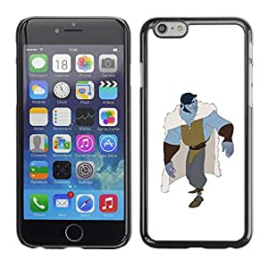 LECELL--Funda protectora / Cubierta / Piel For Apple iPhone 6 -- White Blue Monster Hero Character --