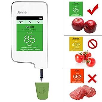 Banne - Medidor digital de nitratos, contador Geiger y detector de radiación, lectura instantánea, alimentación saludable, carne, frutas y verduras, ...