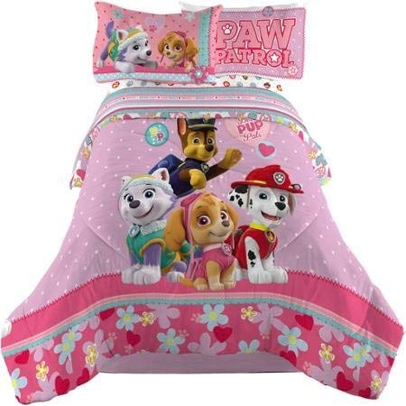 Paw Patrol Girl Comforter and Sheets Bedding Set (Full Size) (Paw Patrol Full Size Bedding Set)