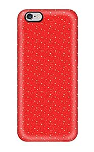 ZippyDoritEduard Case Cover For Iphone 6 - Retailer Packaging Glittery Red Pinstripe Protective Case(3D PC Soft Case)