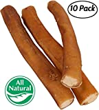 Pawstruck 7″ Straight Bully Sticks Dogs [X-LARGE THICKNESS] (10 Pack) All Natural & Odorless Bully Bones | Long Lasting Dog Chew Dental Treats | Best Thick Bullie Sticks Dogs Puppies | Grass-Fed Beef