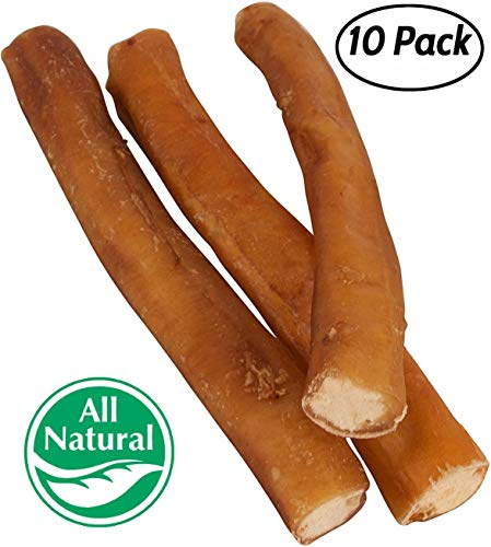 Pawstruck 7'' Straight Bully Sticks Dogs [X-LARGE THICKNESS] (10 Pack) All Natural & Odorless Bully Bones | Long Lasting Dog Chew Dental Treats | Best Thick Bullie Sticks Dogs Puppies | Grass-Fed Beef by Pawstruck