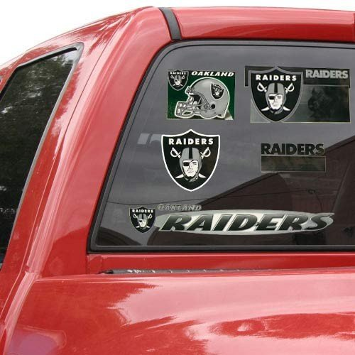 17' Window Cling Decal (Oakland Raiders 11'' x 17'' Window Clings Sheet)