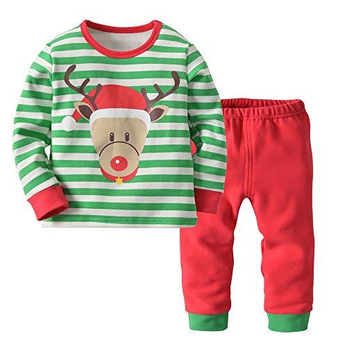 Crystalzhong Baby Christmas Outfit 2 Piezas con Camiseta de Manga Larga e4cacf9eb3b32