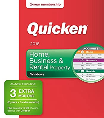 Quicken Home, Business & Rental Property 2018 - Personal Finance & Budgeting Software [Amazon Exclusive 27-month membership]