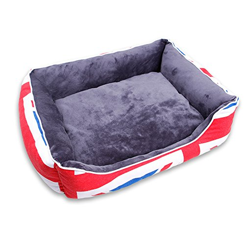 Red M Red M Kennel, Large, Medium and Small Pet Supplies, Warm Dog Bed Thickened Cat Litter Kennel (color   Red, Size   M)