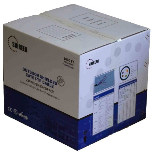 (Shireen DC-2021 Outdoor CAT6 FTP - Shielded - 1000ft)