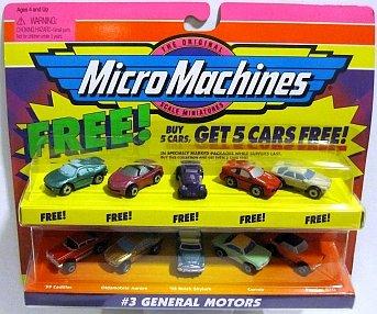 Micro Machines General Motors #3 + 5 Bonus Cars Collection