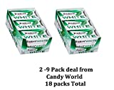 Trident Gum, White Spearmint, 2 Pack Deal (18 Packs) from Candy World