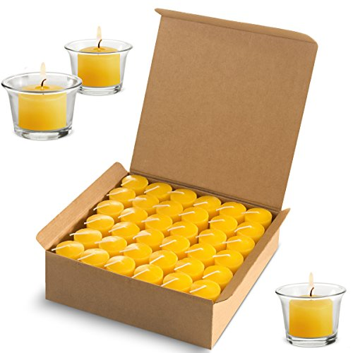 Votive Citronella Candles Scented Indoor Outdoor Use - Mosquito Repellent - Authentic Citronella - 10 Hour Burn Time - Summer Yellow, Set of 72