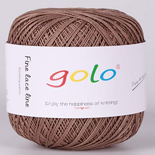 Crochet Thread Yarns for Begingers Size6-100% Contton Yarn for Knitting Crochet DIY Hardanger Cross Sitch Crochet Thread Balls Rainbow Turquoise 39 Colors Avilable (Gray Coffee)