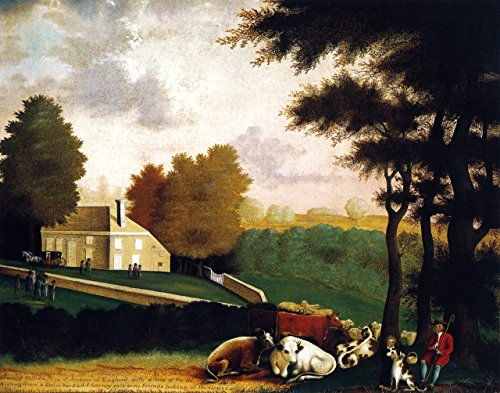 """Grave Of William Penn At Jordans In England - By Edward Hicks - Canvas Prints 12"""" by 9"""" Unframed"""