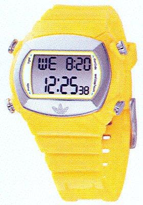 adidas Originals - Reloj digital de cuarzo para mujer con correa de plástico, color amarillo: Amazon.es: Relojes