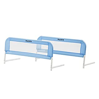 Dream On Me Mesh Bed Rails, Blue, Small, 2 Count