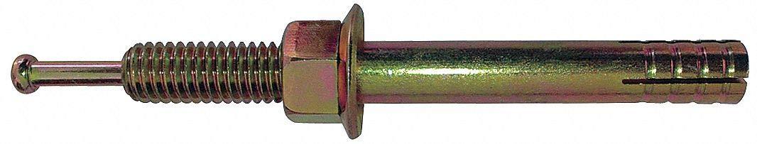 Hex Nut-Head Hammer Drive Pin Anchor, 2-3/8'L x 1/4' Dia, 600 PK