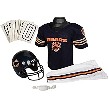 Franklin Sports NFL Chicago Bears Youth Licensed Deluxe Uniform Set ... 3847f71ea