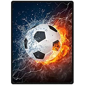 Amazon Com Cool Soccer Ball Art Theme Soft Throw Blanket 58x80 Inch