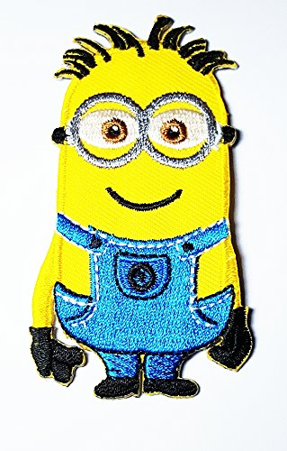 Despicable Me Minion Embroidered Iron on Patch Embroidered Iron on Hat Jacket Hoodie Backpack Ideal for Gift / 4.6cm(w) X - Minion Despicable Me Logo