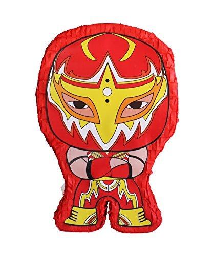 Aztec Imports Pinatas Lucha Kings- Red Pinata