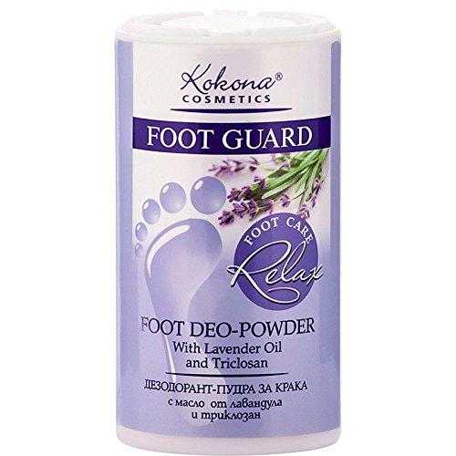 Foot Guard Relax Deodorante Piedi in Polvere con Olio di Lavanda Senza Parabeni 180ml Kokona