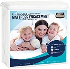We bring you luxury Mattress Encasement Covers at an affordable price. Zippered cover features high quality seam construction and waterproof fabric. Zipper extends along three sides of the mattress, making it easy to install and remove. Cove...