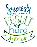 iCandy Products Inc Success Is The Result Of Hard Work Motivational Artwork Decorations Home Wall Decor Posters - 8x10