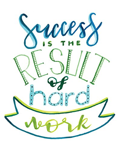 iCandy Products Inc Success Is The Result Of Hard Work Motivational Artwork Decorations Home Wall Decor Posters - 8x10 by iCandy Products Inc
