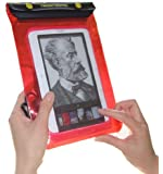 TrendyDigital WaterGuard Waterproof Case, Waterproof Cover for Nook eBook Reader from Barnes & Noble, Red Border