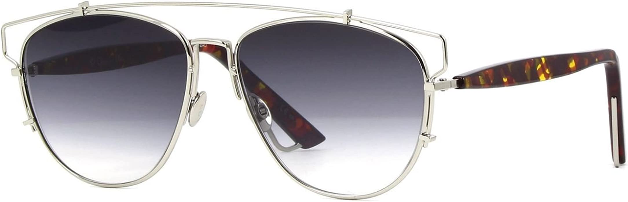 87304c7f84b4 New Christian Dior TECHNOLOGIC YL7/R0 Silver Havana/Grey Gradient. Back.  Double-tap to zoom