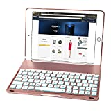 iEGrow F8Spro 7 Colors LED Backlit Keyboard Case for iPad Pro 9.7 Inches(Rose Gold)