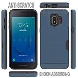 Ayoo Phone Cases:Galaxy J2 Core Case,Galaxy J2 Pure Case,Galaxy J2 Case(2019),Galaxy J2 Dash Case,Galaxy J2 Core Phone Case,[1 Card Holder] Card Slots Holder Case for Galaxy J2 Core-KC Metal Slate