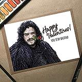 Jon Snow Valentines Card, GoT Valentines Card, Game Of Thrones, Valentines Card Husband, Boyfriend Valentines Gift