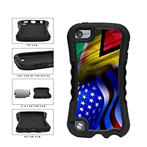 Guyana and USA Mixed Flag 2-Piece Dual Layer Phone Case Back Cover Diy For SamSung Galaxy S5 Case Cover Generation
