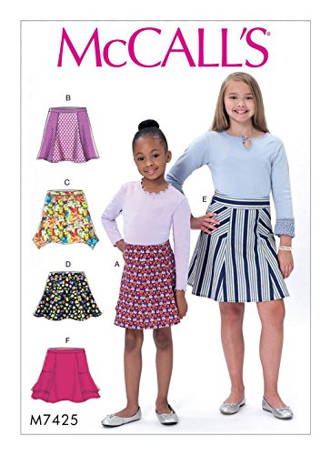 MCCALLS M7425 (SIZE 3-6) Children's/Girls' Flared Skirts with Gores SEWING PATTERN