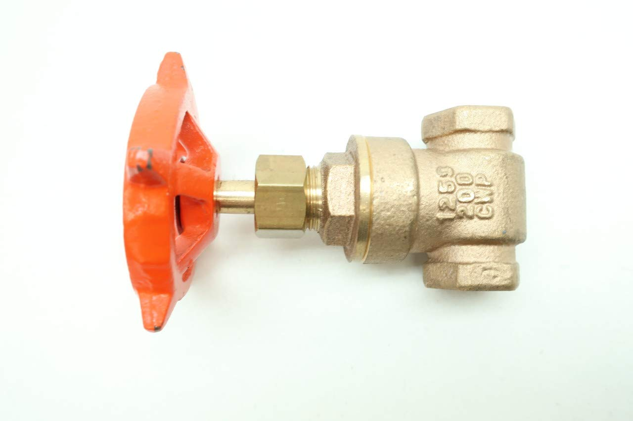 STOCKHAM B-103 Manual Bronze Wedge GATE Valve 3//8IN NPT 125
