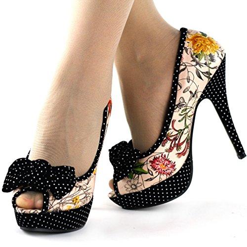 Show Story - Zapatos con tacón mujer Beige - beige