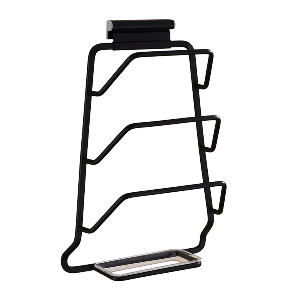 Sevenpring Storage Rack Black Pot Rack Space Aluminum Belt Water Tray Rack Multi-Function Kitchen Storage Rack Wall Hanging Drain Rack