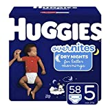 HUGGIES OverNites Diapers, Size 5, 58 ct., Overnight Diapers (Packaging May Vary): more info