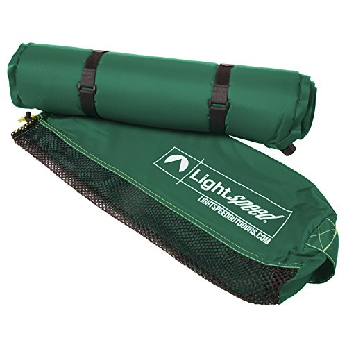 Lightspeed Outdoors Warmth Series Self Inflating Sleep Camp Pad (Thicker and Warmer)
